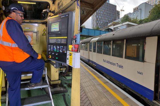 Engineer and Rail Adhesion Train