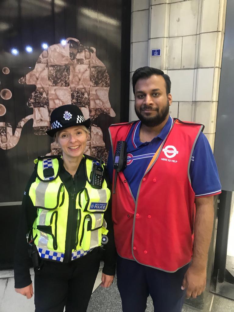BTP officer and TfL member of staff