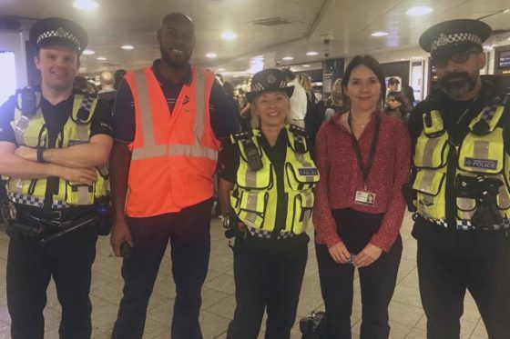 Op Farrier team at a Tube station