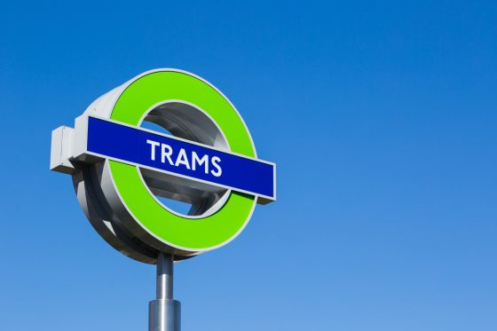 Photo of London Tramlink roundel