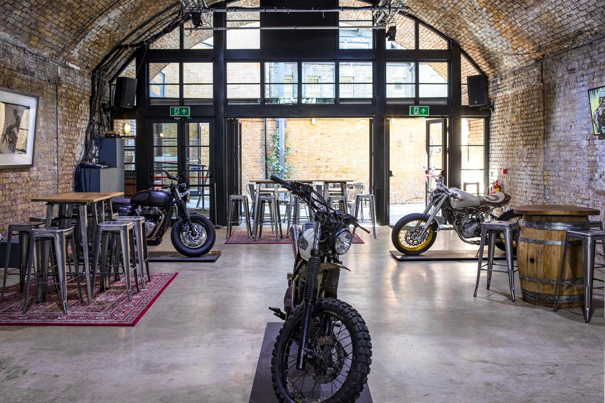 Interior of The Bike Shed