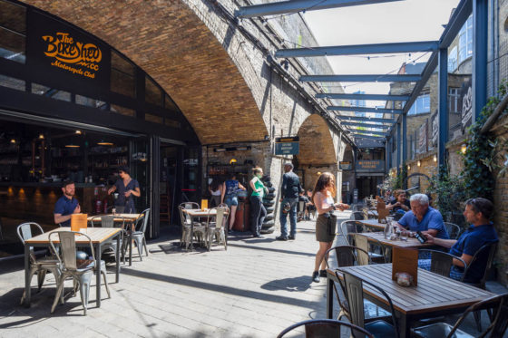 The bike shed outdoor dining
