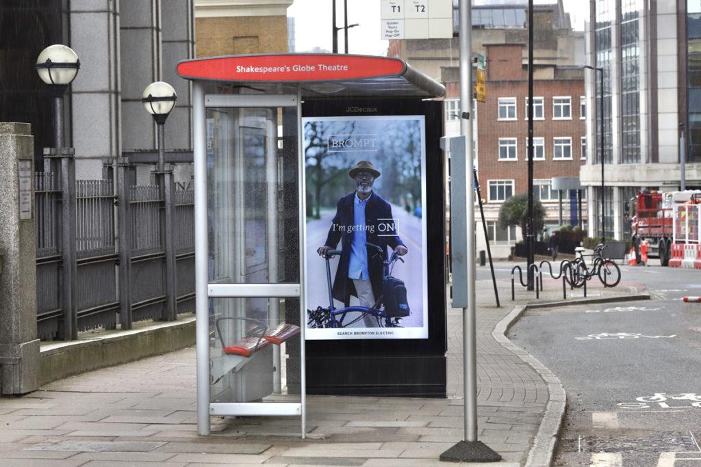 brompton bike bus stop ad