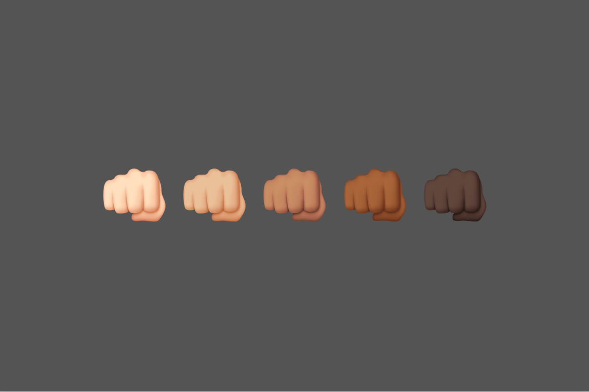 clenched fist emojis graphic