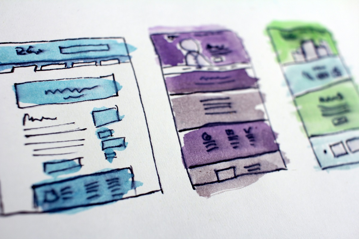 Drawing of webpage layouts