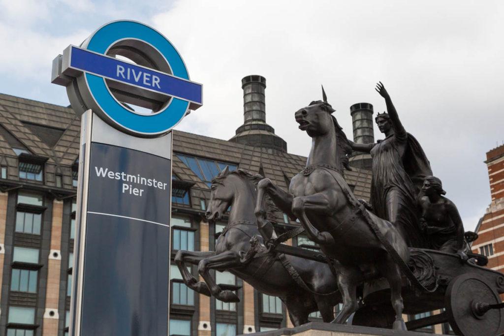 Westminster pier roundel.
